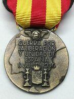 RÉPLICA Medalla Guerra Por La Liberación Y Unidad De España. 17 De Julio 1936. CTV Italia. Guerra Civil Española. 1936-1 - Espagne