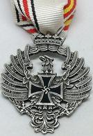 RÉPLICA Medalla Voluntarios Españoles Contra El Comunismo. División Azul. Rusia 1941. Alemania-España. 2ª Guerra Mundial - Espagne