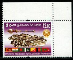 XB1168 Sri Lanka 2017 Buddhist Conference Flag Building 1V MNH - Sri Lanka (Ceylon) (1948-...)