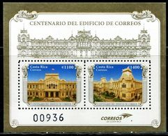 XB1170 Costa Rica 2017 Post Office Building Flag S/S MNH - Costa Rica