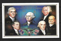 BELIZE 1986 PRESIDENTS AMERICAINS  YVERT N°B69 NEUF MNH** - George Washington