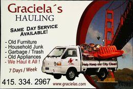CAMION Paysagiste - Débarras ( City Cleaner In USA ) Graciela's Help Keep Our City Clean - (Golden Bridge San Fransisco) - Camion, Tir