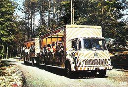 Réserve Animale De HAN-SUR-LESSE  (Belgique) CAMION  AUTOCAR ZEBRE Attelage SAFARI-CAR  - - Camion, Tir