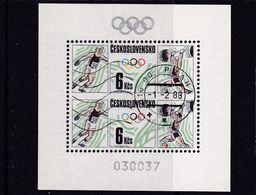 (K 6563) Tschechoslowakei, Block 76, Gest - Blocks & Sheetlets