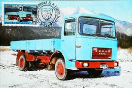 CAMION Porteur Roumain - Type ROMAN  8135F - Romania - Carte Maximum Card Timbre 1975 - Camion, Tir