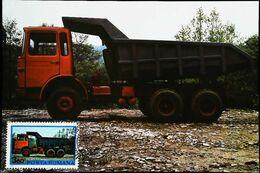 CAMION Benne Roumain - Type ROMAN  19215 DKF - Romania - Carte Maximum Card Timbre 1975 - Camion, Tir