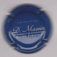Capsule Champagne MASSIN D. ( Nr ; Bleu Terne Et Or ) {S34-20} - Champagne