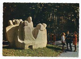 1970s YUGOSLAVIA, SERBIA, JUDAICA, BELGRADE, MOSHE PIJADE MONUMENT, ILLUSTRATED POSTCARD, MINT - Jugoslawien