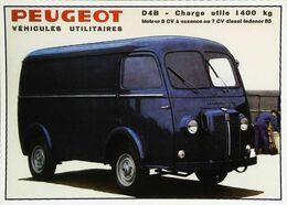 Camion Fourgon PEUGEOT Utilitaire D4B S -Publicité - Editions Centenaire - Camion, Tir