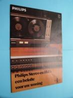 PHILIPS Stereo En Hi-Fi : Een Belofte Voor Uw Woning ( TUNER - VERSTERKER ) Brochure ( Zie Foto's Van Enkele Pagina ) ! - Libri & Schemi