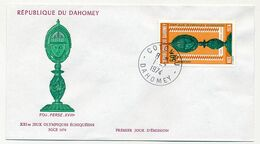 DAHOMEY => 2 Enveloppes FDC => XXI° Jeux Olympiques Echiquéens - Nice 1974 - Bénin – Dahomey (1960-...)
