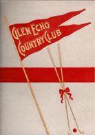 ! Programm, Book 1901, Glen Echo Country Club, St. Louis, Golfsport, Golfing, Billiard, USA, 33 Pages - 1900-1949