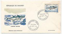 DAHOMEY => 2 Enveloppes FDC => Poissons - 20 Sept 1965 Cotonou - Bénin – Dahomey (1960-...)