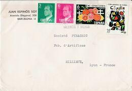 ESPAGNE AFFRANCHISSEMENT COMPOSE SUR LETTRE POUR LA FRANCE 1982 - 1931-Hoy: 2ª República - ... Juan Carlos I
