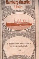 ! Preise Der Hamburg Amerika Linie, HAPAG, 1904, Alle Dampfer, Alle Routen, 54 Seiten - Mondo