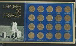 L'épopée De L'espace; 20 Médailles, Gagarine,Armstrong,Aldrin, Léonard De Vinci, Blériot, Zeppelin,Lindberg,Icare, - Francia