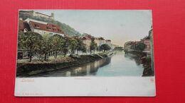 Ljubljana.Laibach.Franzensquai - Slovenië