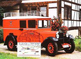 CAMION BAUJAHR De 1936 - Camionnette Postale Allemande - Carte Maximum Card 1983 Frankfurt - Camion, Tir