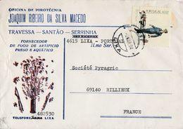 PORTUGAL SEUL SUR LETTRE A EN TETE POUR LA FRANCE 1984 - 1910-... Republik
