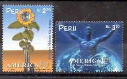 Serie De Perú Nº Yvert 1211/12 ** UPAEP - Peru