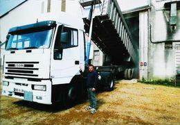 CAMION  Benne- BAILLEAU LE PIN (28 - Eure Et Loire) Déchargement D'orge à La CABEP Coopérative - Camion, Tir
