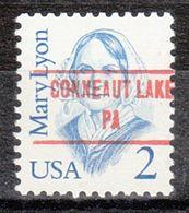 USA Precancel Vorausentwertung Preo, Locals Pennsylvania, Conneaut Lake 853 - United States