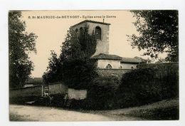 CPA: 01- St MAURICE DE BEYNOST - EGLISE AVEC LE LIERRE - - Sonstige Gemeinden