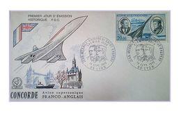 France 1970 1er Jour FDC N° 44 Poste Aerienne Lyon Concorde Mermoz Saint Exupery - FDC