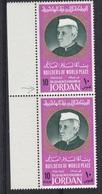 "JORDAN: SG 776a And 776: ""FILS"" Omitted - Nice Error! Pandit Nehru, India - Jordanie"