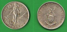 Filippine Filipinas 50 Centavos 1945 Fifty Cents USA - Philippines