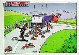 """Carte Postale CAMION - Transport De Jouets - Accident   Automobiles En Modèle Réduit - Série Humour """"Les Milles Pattes"""" - Limitierte Auflagen Und Kuriositäten - Alle Marken"""