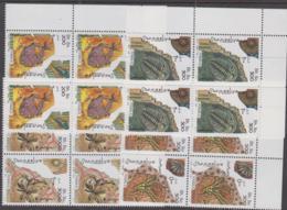 FOSSILS- SOMALIA - 1997 - FOSSILS SET OF 4 IN  CORNER BLOCKS OF 4  MNH, CAT 41 EUROS - Fossils