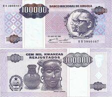 ANGOLA       100,000 Kwanzas Reajustados       P-139       1.5.1995       UNC  [ 100000 ] - Angola