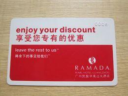 Ramada Pearl Hotel Guangzhou Discount Card - Chiavi Elettroniche Di Alberghi