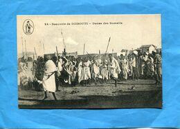 DJIBOUTI-colonie Fse -la Danse Des Somalis-beau Plan Animé A Voyagé Années 1900-10 -édition  K P - Dschibuti
