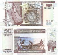 BURUNDI       50 Francs       P-36a       19.5.1994       UNC - Burundi