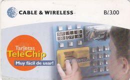 Panama, PAN-C&W-47a, B/.3.00 Telechip Phonecard, 2 Scans.    Gemplus - GEM5 (Black) - Panama