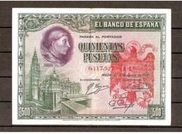 Spain España Espagne 500 Pesetas 1928 Contramarca Privada Águila San Juan - [ 2] 1931-1936 : Republic