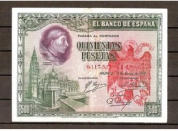Spain España Espagne 500 Pesetas 1928 Contramarca Privada Águila San Juan - [ 2] 1931-1936 : Repubblica