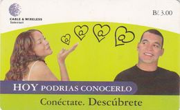 Panama, PAN-C&W-61A, B/.3.00, Internet? Conéctate. Descúbrete., Man And Woman, 2 Scans.    CN :  20 Mm. - Panama