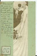 CARTE POSTALE ART NOUVEAU - Illustration KIRCHNER Raphael - (petit Pli Dans Les Angles Voir Scan) - Kirchner, Raphael