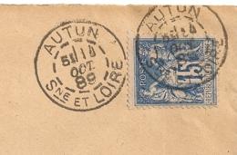 DAGUIN Mixte AUTUN Saone Et Loire, 14 Oct 1889 Pour ARLES. SAUZAY Frères Instruments Agricoles, Pompes. - 1877-1920: Semi-Moderne