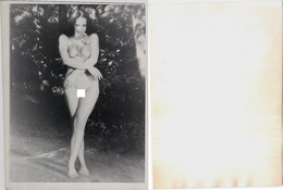 1960s Original ART Home Private 12x9 Vintage Photo Photography From Negative Beautiful Erotic Woman NU Eros Russia (9480 - Weiblicher Akt (1941-1960)