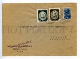 414488 LATVIA 1941 Year Riga Liepaya Mixed Franking Real Posted COVER - Lettland