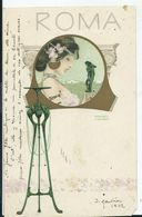 CARTE POSTALE ART NOUVEAU - Illustration KIRCHNER Raphael - ROMA - Un Coin Rogné, Voir Scan) - Kirchner, Raphael