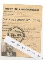 TUBIZE  40/45 Carte De Résistant - 1939-45