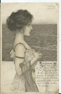 CARTE POSTALE ART NOUVEAU - Illustration KIRCHNER Raphael - Un Pli Dans Un Angle , Voir Scan) - Kirchner, Raphael