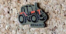 Pin's TRACTEUR Agricole RENAULT - Peint Cloisonné - Fabricant Inconnu - Other