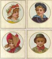 CHROMO CIBILS CIB 1-22-5 FOUR SQUARED CARDS OF CHILDREN-HOUBEN - Cromos
