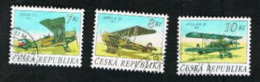 REP. CECA (CZECH REPUBLIC) - SG 144.146  - 1996  BIPLANES (COMPLET SET  OF 3)    -   USED - República Checa